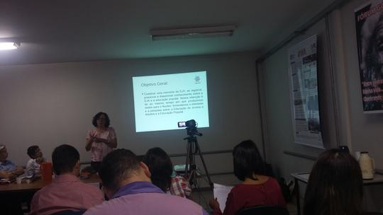Memória da Educação de Jovens e Adultos no Rio Grande do Norte: história no presente. Profª Rosa Pinheiro -UFRN